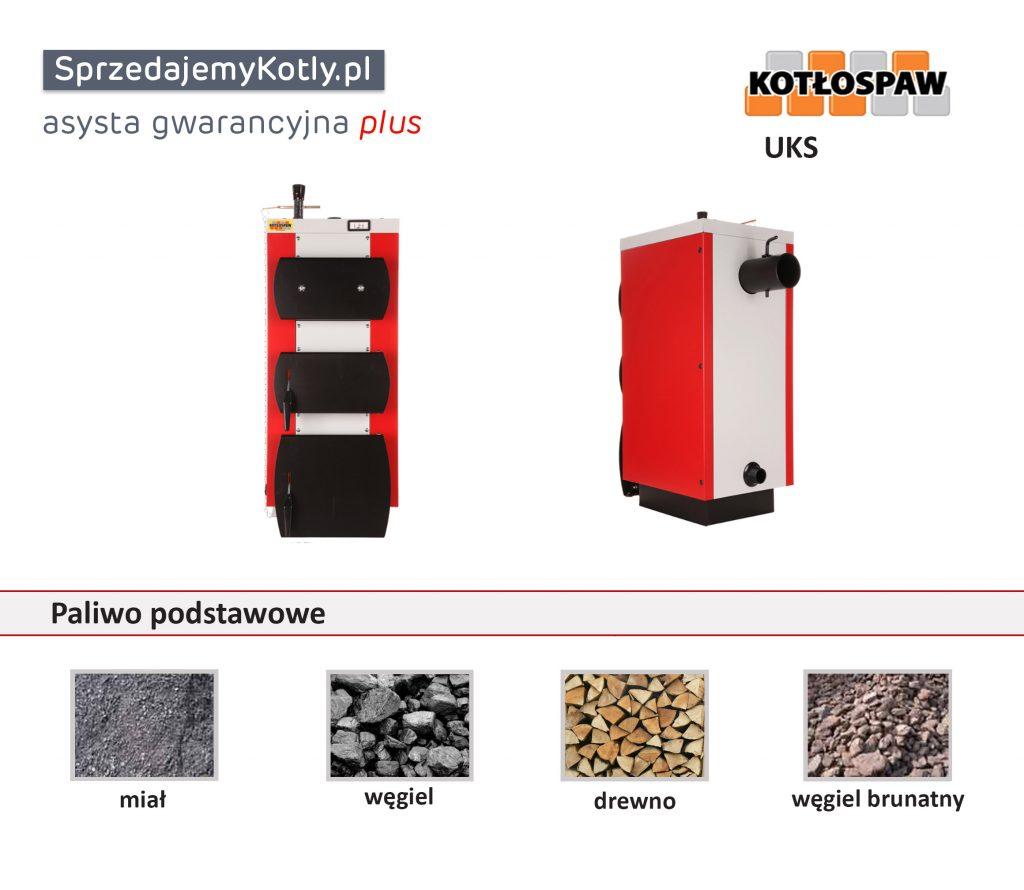 Kocioł UKS firmy Kotłospaw na miał, węgiel, drewno, węgiel brunatny